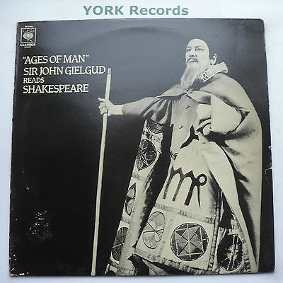 SHAKESPEARE'S AGES OF MAN - Sir John Gielgud - Excellent Con LP Record CBS 61830