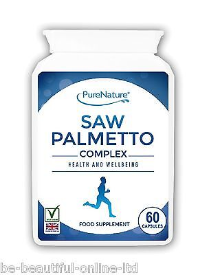 60 Saw Palmetto Complex Prostate Plus Urinary Tract & Blood Vegetarian Capsules