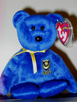 Ty Beanie Baby ~ POMPEY the Bear ~ UK Exclusive ~ MINT ~ RETIRED