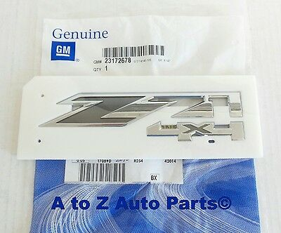 NEW 2013-2015 Chevy Silverado, GMC Sierra Chrome Z71 4x4 Emblem, OEM GM