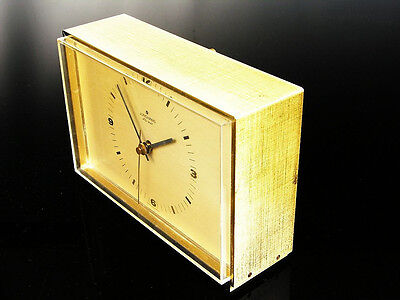 Beautiful Later Modernism  Bauhaus  Desk Clock Junghans  Automatic  Germany
