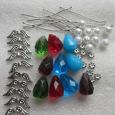 ANGEL KIT - MAKE YOUR OWN ANGEL CHARMS - KIT FOR 10 to 1000 CRYSTAL GLASS ANGELS