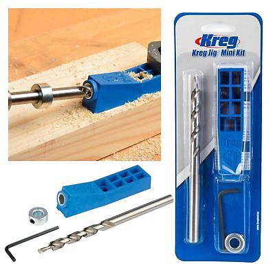 Kreg Pocket Hole Jig Mini Kit Machine System With Step Drill Bit & Depth Collar