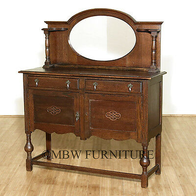 Antique English Queen Anne Buffet Sideboard Server C1939  bf40