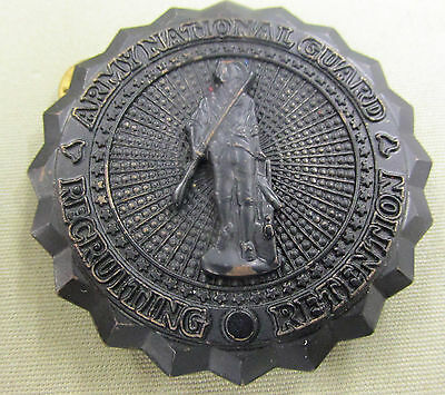 Vintage ARMY NATIONAL GUARD RECRUITING RETENTION BADGE provenance West Virginia