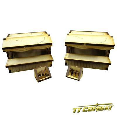 TTCombat - Old Town Scenics - 2 Canvas Market Stalls - Great for Malifaux