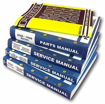Ford 4400 4500 Industrial Tractor Service Repair Shop Parts Operators Manuals Id