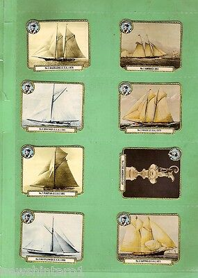 #d144. Scarce Set Of 1983 Liptons Tea America's Cup Yacht Cards