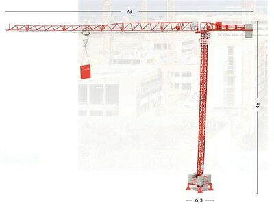ROS 108-0 Wolff 4517 City Tower Crane 1/87 HO Scale Die-cast Brand-new MIB