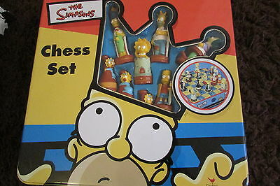 Simpsons Chess Set In Tin