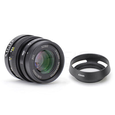 Mitakon ZY-Optics SpeedMaster 25mm f0.95 Micro 4/3 MFT Mount Lens BMPCC GH4/5 UK