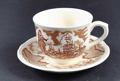 Alfred Meakin Fair Winds Cup Saucer Staffordshire Chinese Export G7