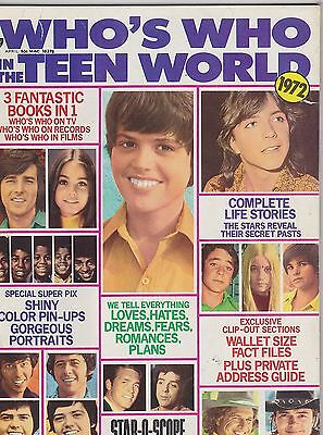 1972 WHOS WHO IN THE TEEN WORLD vintage teen magazine - OSMONDS