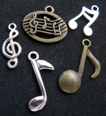 Classical sheet music 5 pc silver pendants charm bracelet treble classical sheet music 5 pc silver pendants charm bracelet treble clef notes lot aloadofball Choice Image