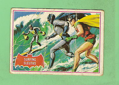 Scanlens 1966 Batman Red Bat Card #20A  Surfing Sleuths