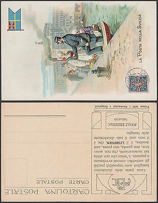 Italy 20th Mint postcard , post office in Sweden. Show stamp , flag........B3375