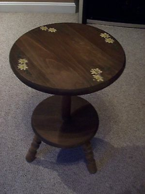 Vintage Solid Wood Side Table With Spindle Legs Primitive Furniture