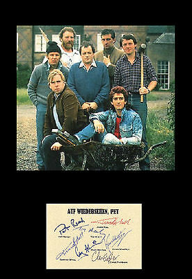Reproduced Auf Wiedersehen, Pet signed autograph item - framed & mounted 12x16