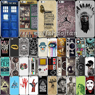 For iPhone 6 6Plus Hard Back Case Cover Protector Skin Skull Retro Camera Print