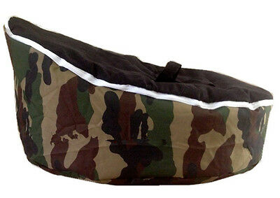 UNFILLED Camouflage  2 Layer Baby Bean Bag Chair/Bed Todler Kid Portable Seat