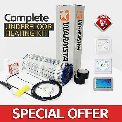 Electric Underfloor Undertile Heating mat kit 200W All Sizes in this Listing