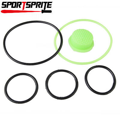 6pcs Waterproof Rubber O-ring w/Silicone Switch Cap for Ultrafire C8 Flashlight