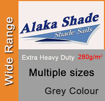 Extra Heavy Duty Shade Sail Grey Gray Sun Outdoor Triangle Square Rectangle