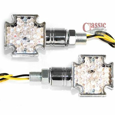 Maltese Cross Indicators LED Suitable for cafe racers, custom builds,