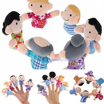 6pcs Plush Cloth Finger Puppets Kid Baby Play Game Tell Story Toy Kids Gifts