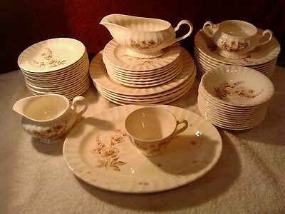 Vintage Edwin M. Knowles China Co. Made in USA 55 pcs set # 48 4