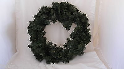 """24"""" Double Ring Pine  Wreath~Two Shades Of Green~Xmas~Crafts,decorate Yourself"""