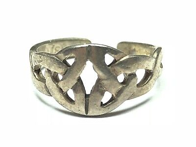 Fantastic Ladies Sterling Silver Toe Ring With Lovely Design - Mint! - Size 4