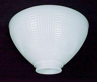 IES Reflector Lamp Shade White Milk Glass 3 X 10 Floor Table Pendant Waffle New