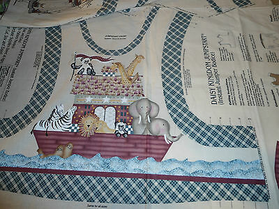 1997 SEWING PANEL BY DAISY KINGDOM,JUMPSTART JUMPER BODICE FABRIC,COUNTRY NOAH