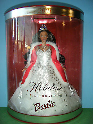 2001 Holiday Celbration African American Barbie *new*