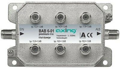 Axing BAB 6-01 Dérivateur 6 directions Atténuation 13-18 dB 5-1000 MHz NEUF