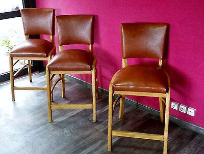 6 Chairs  Club Art Deco 1950Th