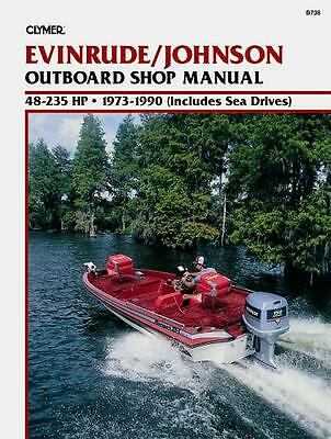 Clymer Evinrude/Johnson Outboard Shop/Repair Manual, 48-235 HP, 1973-1990 (B736)