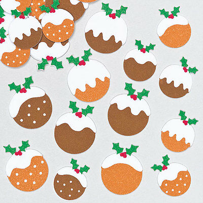 Christmas Pudding Felt Stickers for Children Decorating Cards Crafts(Pack of 96)