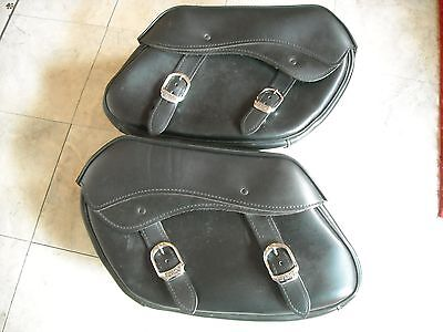Harley Davdison Detachable Leather Saddle Bags #79300-06D