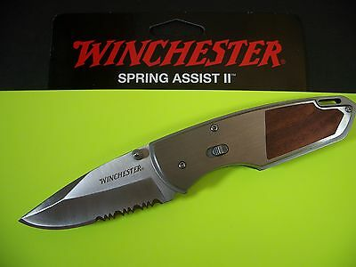 WINCHESTER GERBER Spring Assist 2 - Rosewood F.A.S.T. w/ SAFETY LOCK KNIFE G0482