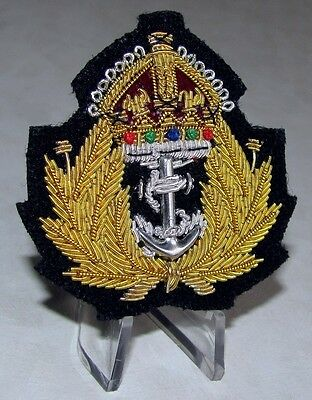 Canada Royal Canadian Navy Naval Officer Hat Badge Beret  WWII  WW2