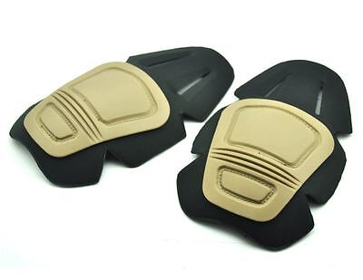 Airsoft Knee Insert Pads Trousers Gen Fits Crye Precision Tan Sand Cb De Tmc