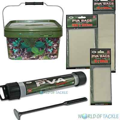 Fishing Gift Set 5l Bucket PVA Mesh Narrow 25mm and 60 PVA Bags