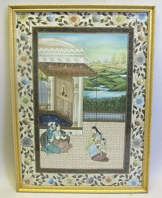 Very Fine & Large Antique Indian Watercolor Painting  c. 1920  India Asian   #1
