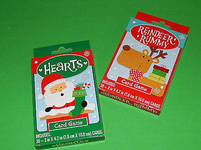 New Lot of 2 Card Games Christmas Style Childrens Stocking Stuffer Gift Fun Kids