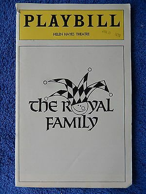 The Royal Family - Helen Hayes Theatre Playbill - January 1976 - LaGallienne