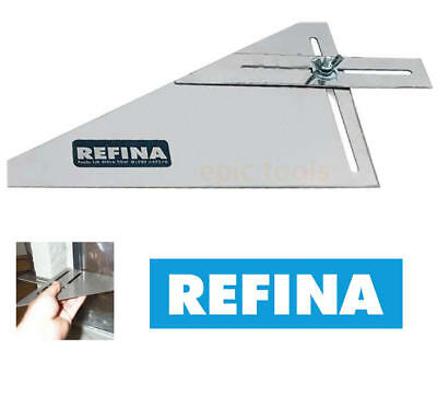 REFINA 640006 Stainless Steel Plasterers Reveal Frame Adjustable Square & Angle