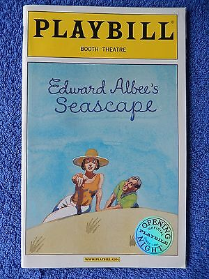 Seascape - Booth Theatre Playbill - Opening Night - November 2005 - Grizzard
