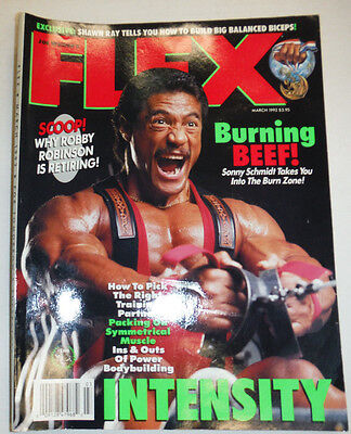 Flex Magazine Sonny Schmidt & Robby Robinson March 1992 112114R